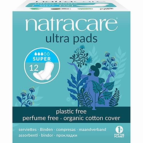 Natracare Organic Cotton Ultra Pads 12 Super Flow