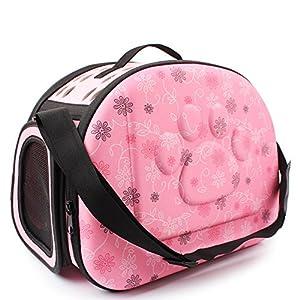 Topda de transport pour animal domestique, portable Chien Chat Voyage Caisse pliable EVA Pets Cage Tote Sac à main