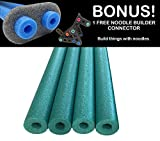Oodles of Noodles Deluxe Famous Foam Pool Noodles Wholesale 4 Pack Black