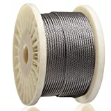 AGTEK Wire Rope 1/8 Inch 316 Stainless Steel Aircraft Cable for Decking Railings, 250 FT, 7x7 Strands Construction
