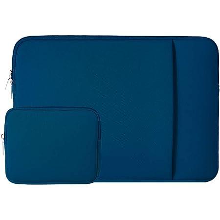 RAINYEAR Housse 11 Pouces Ordinateur Portable de Protection Sacoche Laptop Sleeve avec Poche Avant Accessoires Pochette Compatible 11,6 MacBook Air Pro pour Notebook Tablette Chromebook(Bleu Marin)