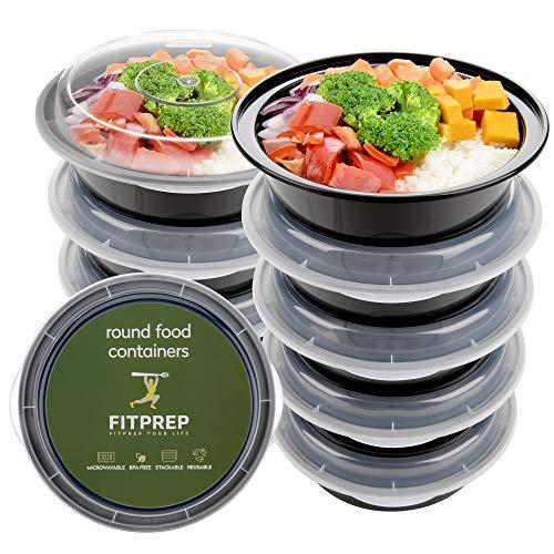 FITPREP® - 1-Fach Meal Prep Container Rund -10er Pack - für Meal Prep empfohlen