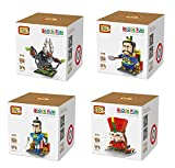 LOZ Set of 4 Diamond Block Cartoon Fun Mini Block Building Brick Set Total of 2600 pcs