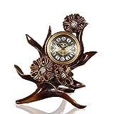Qddan Relojes de Chimenea Mesa de Escritorio del Reloj Decorativo con Pilas...