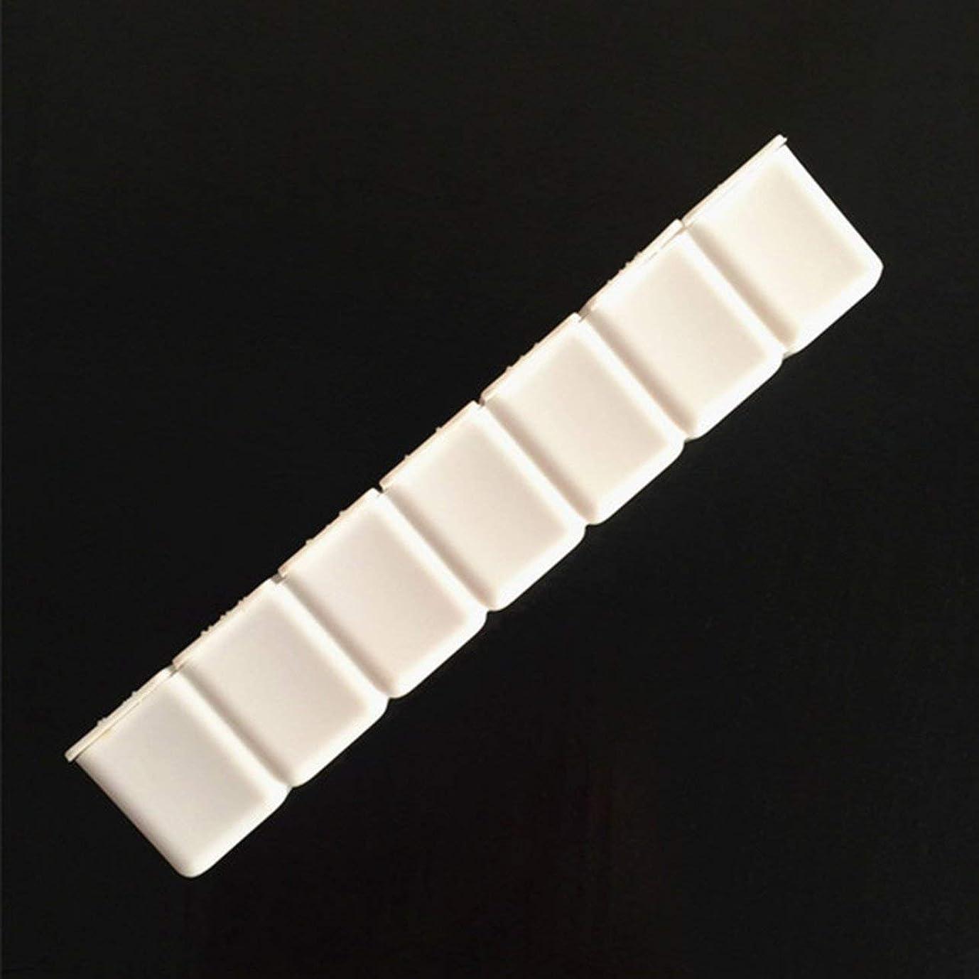 修羅場カバー香ばしいDeeploveUU 7グリッド小さなクリアピルボックスポータブルトラベルビタミンケース収納オーガナイザー複数コンパートメントピルコンテナ