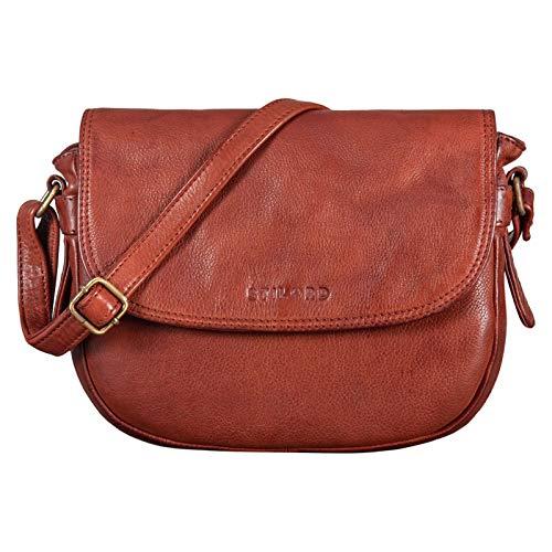 STILORD 'Loreen' Bolso de Mujer Pequeño Cuero Bolso de Mano Damas Handbag Leather Elegante Bolsa para Salir Noche Fiesta Genuino Cuero Vintage, Color:Cognac - Used