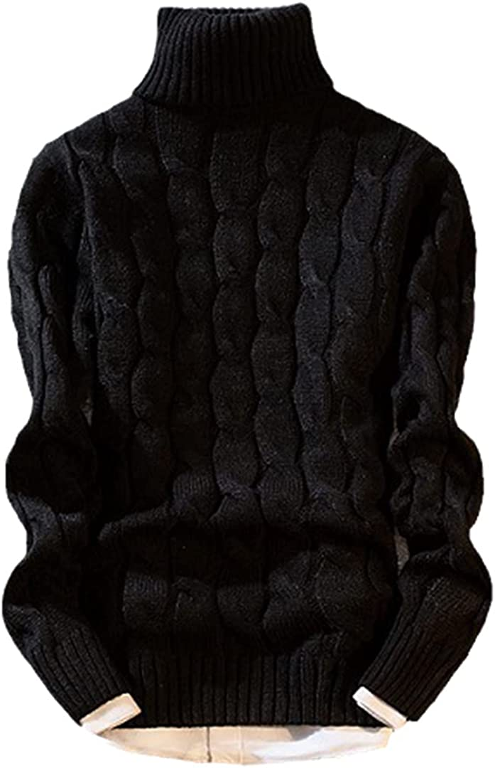 HONSILLENGS Winter Thick 67% OFF of fixed price Sweater Mesa Mall Men Chri Slim Warm Fit Knitting