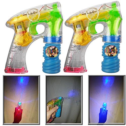 2 Stück Seifenblasenpistolen inkl. Batterien und Seifenwasser...