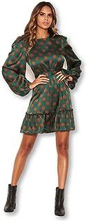 AX Paris Women's Spotty Dress with Frill Hem