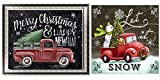 BOHADIY 2 Pack 5d Diamond Painting Kits for Adults Beginner Full Drill Easy for Kids Diamond Arts Crafts Paintings for Home, Office, Wall Decor Christmas Tree Car