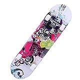 Out Ver Tabla de Skate Retro Maple Wood,Skates High Pro 31x7 Pulgadas,Skateboard Completo para Adultos y Niños con RotamientoABEC-7, 8 Capas de Madera de Arce Monopatin 80x20x11cm,A