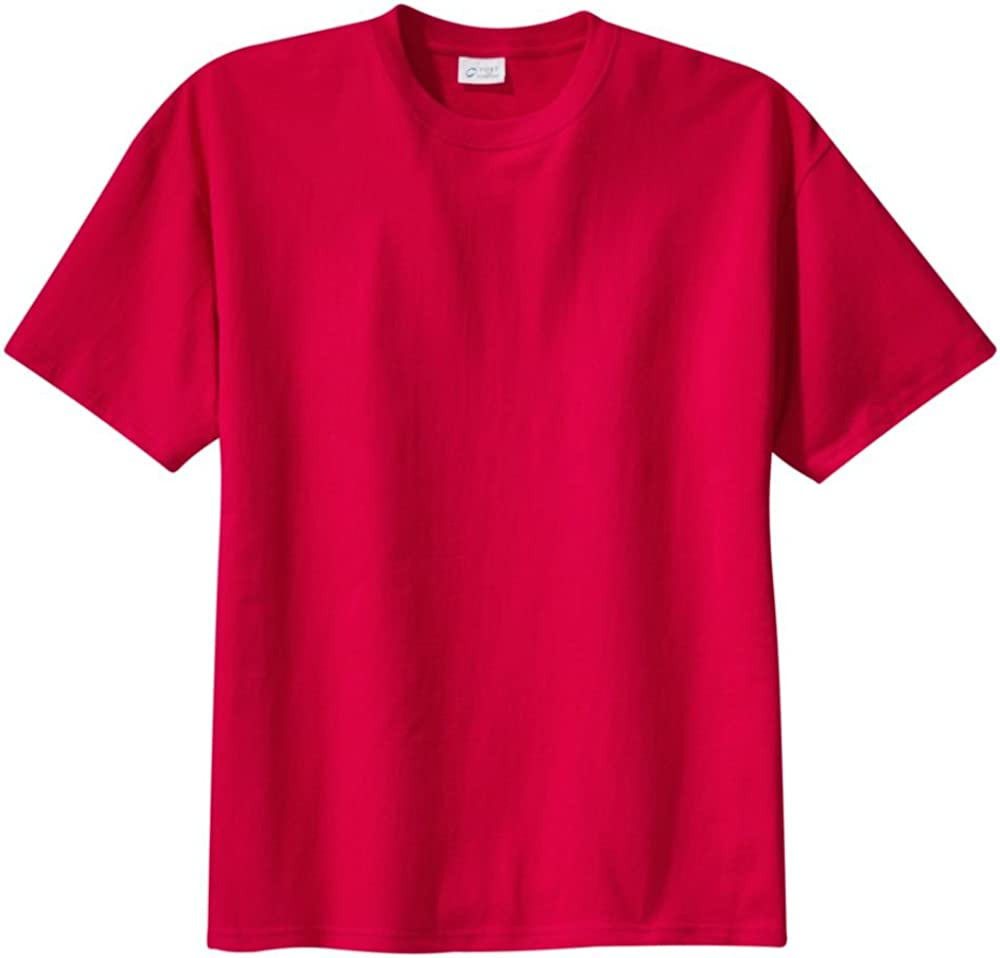 Port & Company Tall 100% Cotton Essential T-Shirt, Red, 3XLT