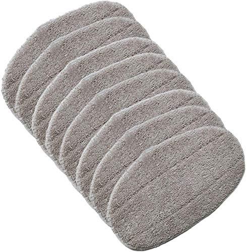 MRZJ Leifheit Ersatzpads Dampfreiniger CleanTenso, Dampfbesen Wischbezug für eine porentiefe Reinigung, Dampfmop Ersatz mit Klettunterseite (2 Stück) 8Stück
