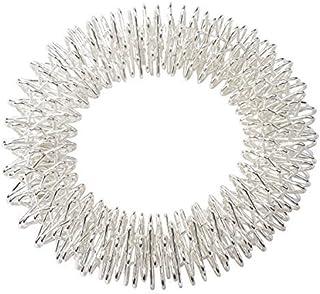 Pierścień do masażu akupresury na nadgarstek w kolorze srebrnym