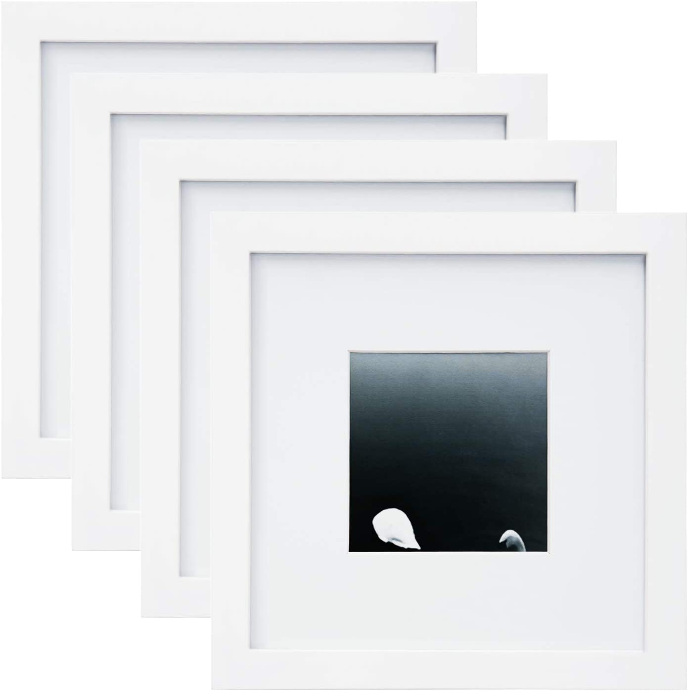Egofine Elegant 8x8 Picture Frames 4 PCS - Recommendation for Solid of Wood Made Table