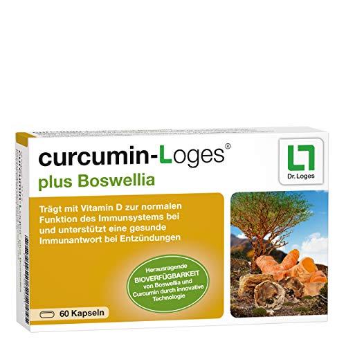 curcumin-Loges® plus Boswellia - Monatspackung - Kurkuma-Extrakt-Konzentrat - unterstützt die Hemmung von Entzündungen - 60 Kapseln
