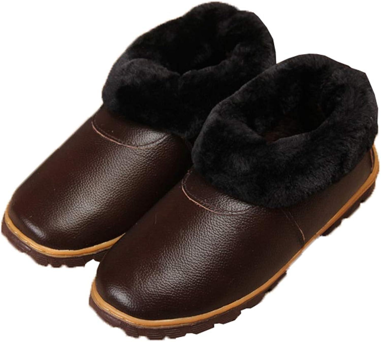 JOYBI Women Winter Fashion Round Toe Ankle Boot Comfortable Warm Fur Lined Slip On Waterproof Snow Boots
