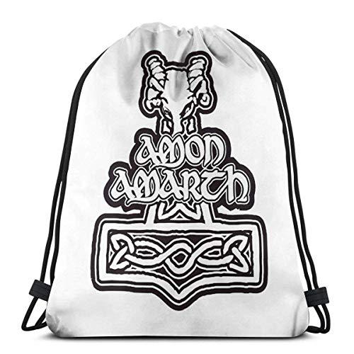 Hdadwy Mochilas con cordón Mochila de Gimnasio Amon Amarth Logos Sport Mochila de Hilo Personalizada