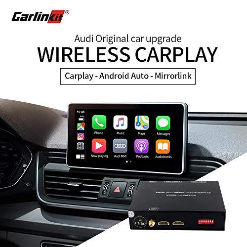 Carlinkit Wireless Carplay Android Auto Nachrüstsatz für Audi 2013-2019 A3 S3/2016-2019 A4 A5 Q2 Q7/2018-2019 Q5/2017-2019 S4 S5, (Q7-8.4inch Bildschirm Keine Unterstützung)