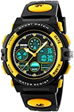 Watch for Kids Boys Girls 5-12 Years Old, Digital Sports Waterproof Watch for Kids Birthday Presents Yellow Gifts Age 5-16 Teen Boys Girls Children Young Outdoor Electronic Watches Alarm Stopwatch