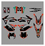 Zhbqcmou Kit de Etiqueta de la calcomanía de la calcomanía del Fondo gráfico de la Motocicleta para KTM SX SXF XC XCW XCF XCFW EXC 125 150 200 250 350 450 500 2011-2013 hnzhb