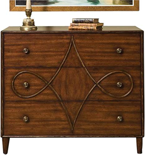 Find Bargain Chest of Drawers Jules LELEU Round Tapered Legs Mahogany European Gilded G
