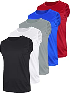 Pack of 5 Men's Athletic Tank Tops Sleeveless Muscle Shirts Quick Dry Activewear