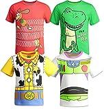 Disney Pixar Toy Story Boys 4 Pack T-Shirts Woody Buzz Lightyear Rex Slinky Dog 5