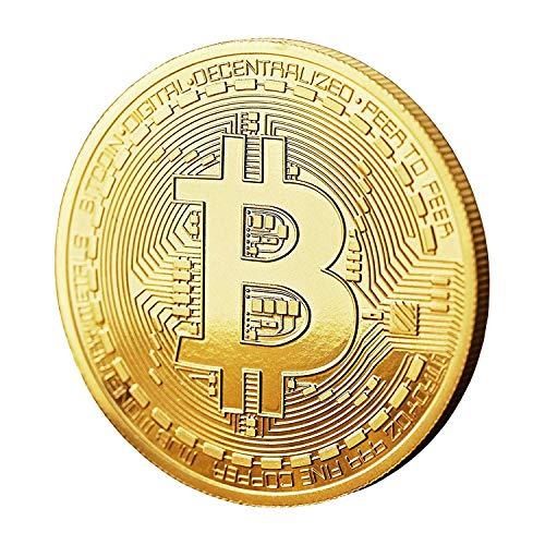 CK-Shop Physische Bitcoin Münze mit 24 Karat Gold Überzug – Bitcoin Medaille als Sammlerstück – Krypto Münzen ideal als Geschenkidee inkl. Schutzhülle, 1 Münze (Münze)