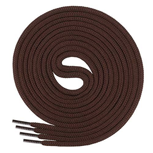 Di Ficchiano runde SCHNÜRSENKEL für Arbeitsschuhe und Trekkingschuhe - sehr reißfest - ø ca. 4,5 mm, Polyester - SP-01-brown-120