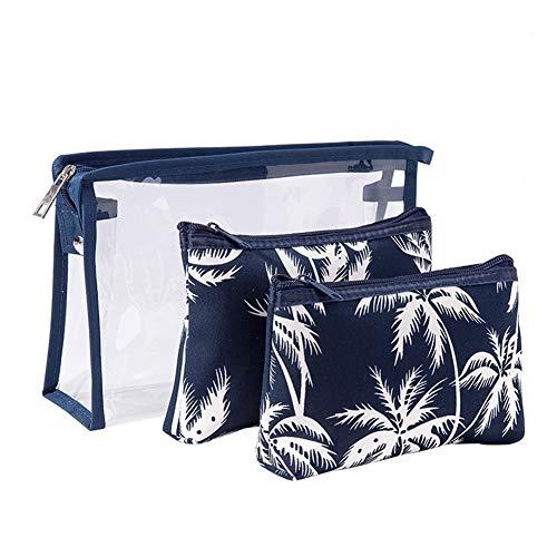 Lovemay Trousse de Toilette en PVC pour Femme, PVC, Bleu, 3