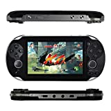 Kasit 1PC Handheld 4.3inch 8GB Video Game Console Free 100+ Games MP4 MP5 Players with Dual Joystick Camera Classic Portable Retro Game Player Birthday Gift for Kid (Black)