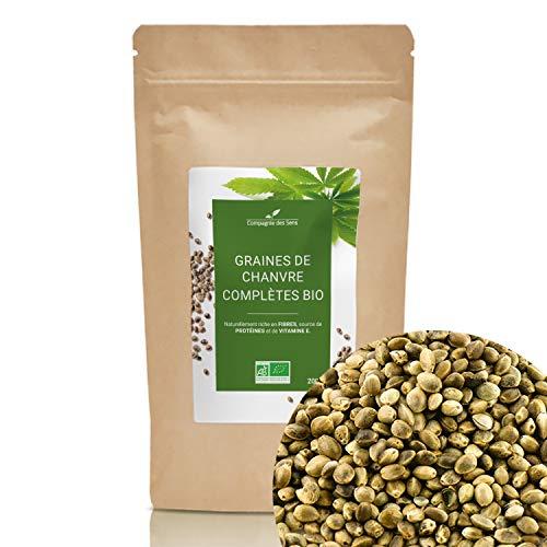 Graines de Chanvre complètes de Bretagne BIO - Graines en vrac - 200g