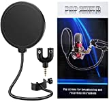 Techtest Song Recording Studio Mic Pop Filter for Bm 800 Condenser Microphone 6-Inch