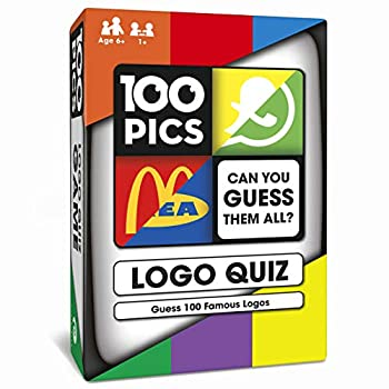 100 PICS Logo Quiz Game - Guess 100 Logos Family Brain Teasers Pocket Puzzle for Kids and Adults
