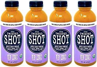 The Twisted Shot   Organic Apple Cider Vinegar Shots with Turmeric, Ginger, Cinnamon, Honey & Cayenne   Immunity Boost   4...