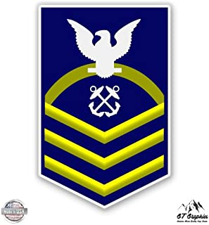 USCG US Coast Guard CPO Chief Petty Officer E-7 Rank - Vinyl Sticker Waterproof Decal