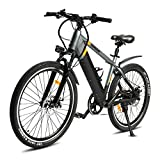 SDU Electric Bike SDREAM T350, Bicycle for Mountain/Urban, 1.95″ Tire 26″ Spoked Wheels, Front...