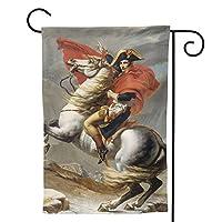 アルプスを渡るナポレオン のぼり旗 ガーデンフラッグ 両面 防風 サイン 休日を祝う 美しい 庭の装飾 アンティークの冬 ガーデンバナー ファッション 屋外装飾 贈り物