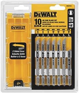 DEWALT DW3741C 10-Piece T-Shank Jig Saw Blade Set w/Case