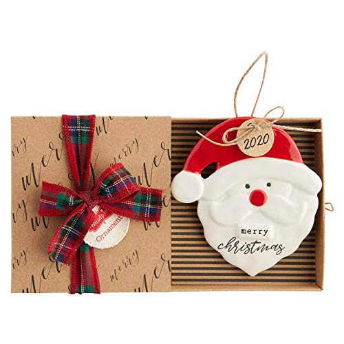 Mud Pie 2020 Santa Ornament, 4.25' x 4'