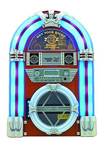ホノベ電機 HNB-MX2500-WH ホワイト ジュークボックス風音楽プレイヤー CDプレーヤー