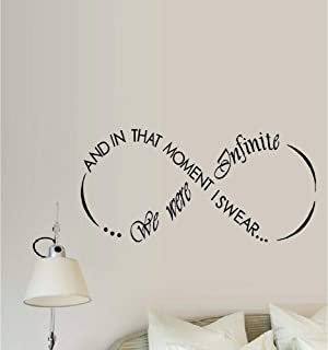 N.SunForest and in That Moment I Swear We were Infinite Wall Decal Words & PhrasesVinyl Stickers Decorative for Holiday Home Room