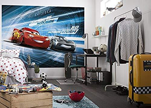 'Komar 4–423–Papel pintado fotográfico'cars3Simulación, multicolor, 254x 184cm, 4piezas