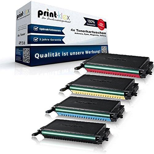 4x Kompatible Tonerkartuschen für Samsung CLP-620 CLP-620ND CLP-620NDK CLP-670 CLP-670N CLP-670ND CLP-670NDK CLP-670NK CLX-6220FX CLX-6250FX Black Cyan Magenta Yellow Sparset