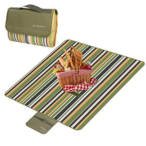 Camping Blankets Beach Blanket Cover 59inch x 78inch The Best Sand Proof Picnic mat Suitable for Travel campingleisure Outdoor mat Waterproof and Moisture Proof sandproof Portable Portable mat Green