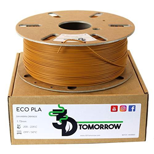 3DTomorrow Eco PLA Filament 1.75mm, 100% Recyclable Cardboard Spool - Eco Friendly 3D Printer Filament, Contains recycled PLA. Matte PLA (Saharan Orange)