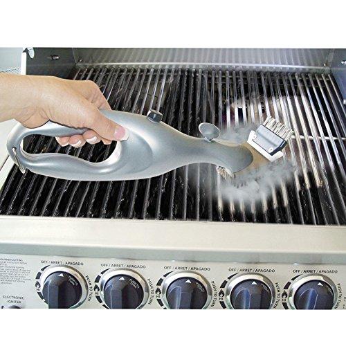 pepeng 45,7cm Triangle Metall BBQ Grill Reinigungsbürste, Heavy Duty armig Edelstahl Barbecue Borsten Reiniger für Einfacher und effektive Reinigung, Edelstahl, Steam Cleaner