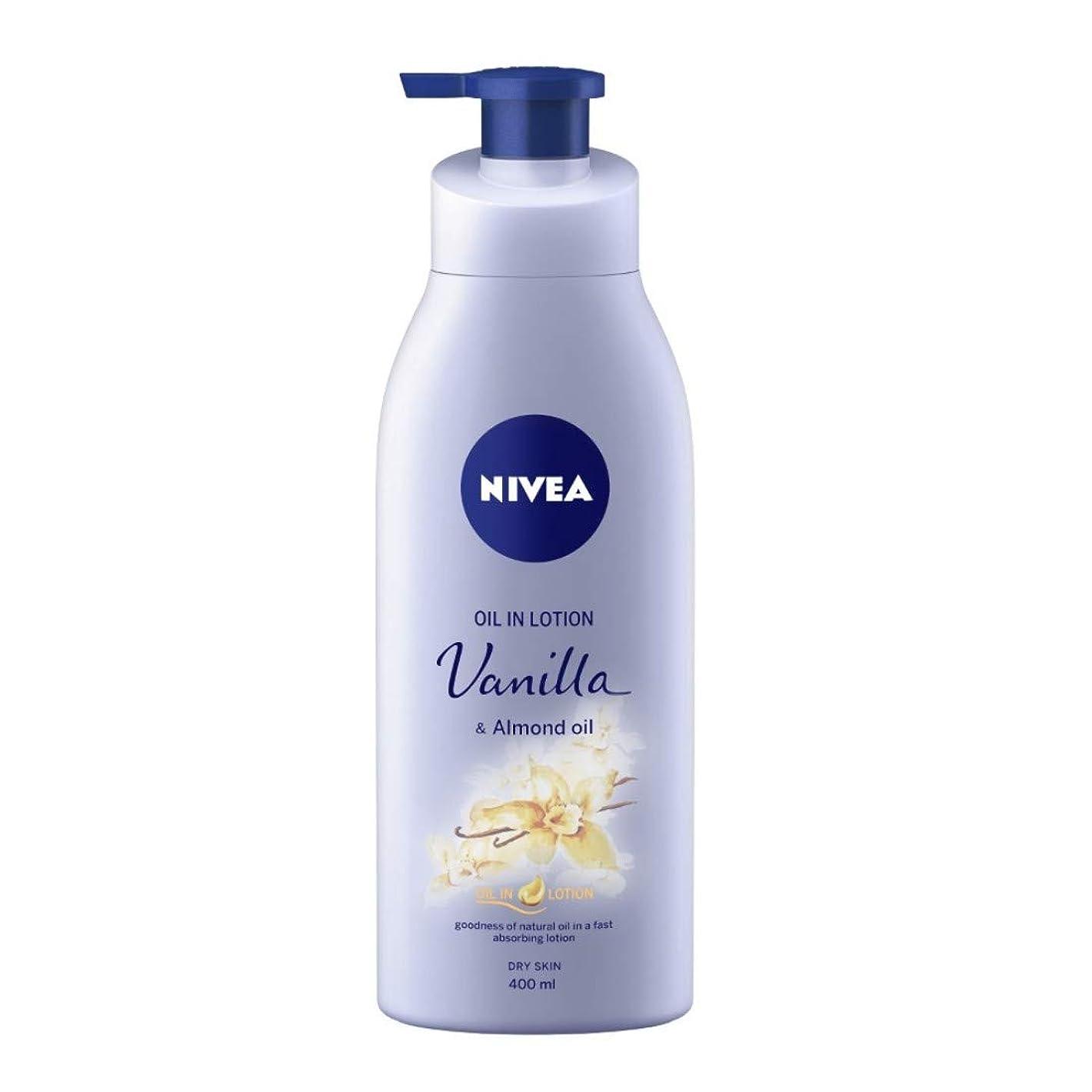 売り手こしょう露骨なNIVEA Oil in Lotion, Vanilla and Almond Oil, 400ml