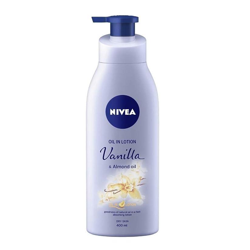 増加する運動ピルNIVEA Oil in Lotion, Vanilla and Almond Oil, 400ml